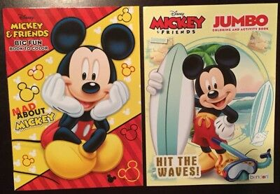 Set Of 2 DISNEY MICKEY MOUSE & Friends Coloring & Activity Books Bendon ()