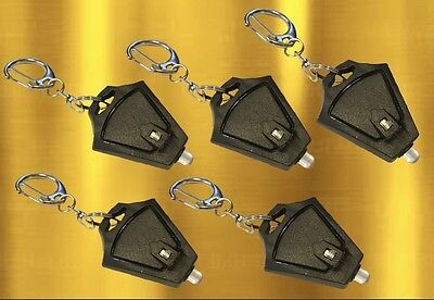 LED Keychain Flashlight 5 Pack Super Bright Mini Key Ring Torch Photon Beam