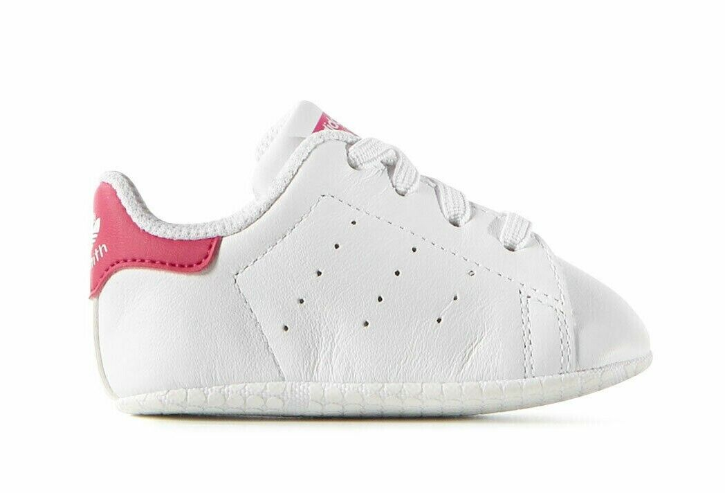Adidas Originals Infant & Toddler's STAN SMITH CRIB Shoes White/Pink S82618 c