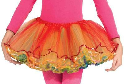 Rainbow Reversible Tutu Skirt Fancy Dress Up Halloween Child Costume Accessory - Childrens Dressing Up Accessories