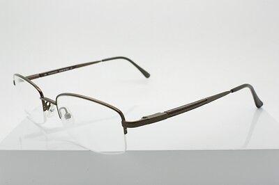 Valentino 1177 Brown / Wooden (0ZR8) Half Rimless Eyeglasses Size 53-19-140mm
