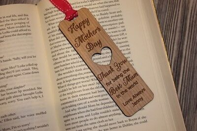 - MOTHERS DAY WOODEN BOOKMARK,PERSONALISED MUM,MOTHER,MAM,NAN,MUMMY