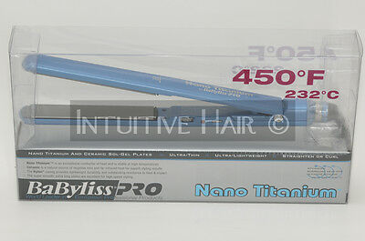 "Babyliss Pro Nano Titanium Ceramic Sol-Gel Flat Iron 1"" BNT3072C Up to 450°F"