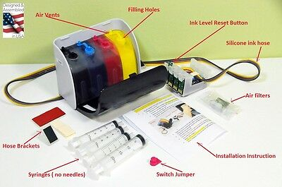 XPro PIGMENT INK Continuous ink system CISS for EPSON Workforce 7110 7610 7620 (Epson 7620 Cis)