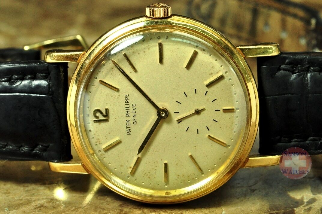 $7950.00 - Patek Philippe Calatrava 3435 Automatic 18k Yellow Gold Vintage 1965 with papers