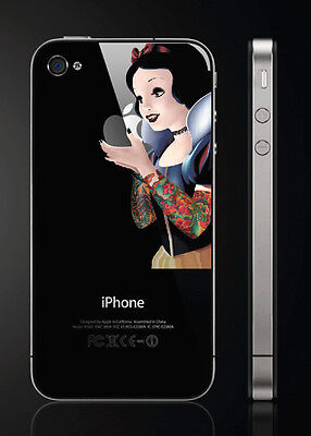 Mini Goth Princess Decal for iPhone 4 / 4S / 3G / 3GS - vinyl sticker
