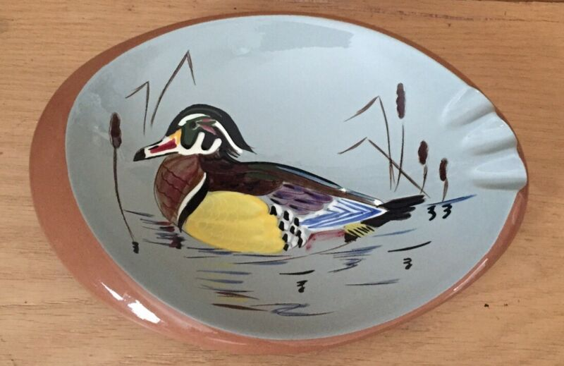 Stangl Pottery Wood Duck 3926H Vintage Ashtray Made In USA