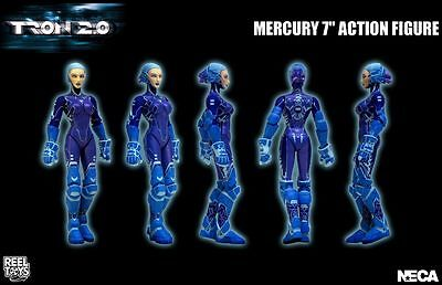 """Tron 2.0 - 7"""" Mercury Action Figure with Glow Rod and Display Stand - NECA"""