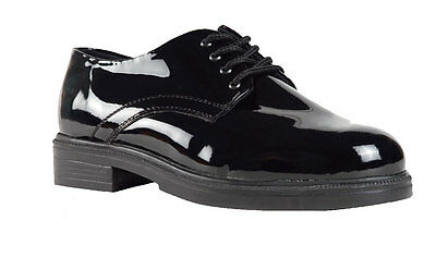 High Gloss Dress Oxford - Oxford Black Gloss Leather Military dress uniform shoes - West Point High Gloss