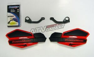 Powermadd Star Series Handguards Hand Guards Black/Red Honda 450R 250R Foreman
