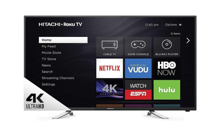 "Hitachi 60"" Class 4K Ultra Resolution High Definition Smart TV with Roku 60R70"