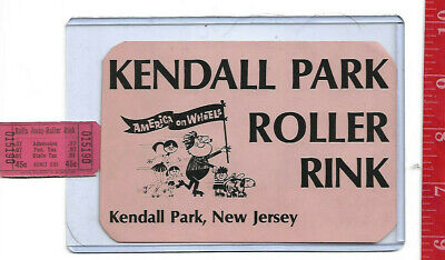 vintage lot roller rink decal Kendall Park New Jersey & ticket
