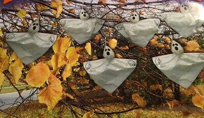 Ghosts Of Halloween (HALLOWEEN HANGING GHOSTS INDOOR OUTDOOR SET OF 6 Decor)