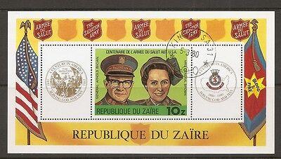 Zaire SC # 968 Salvation Army Centenary . Souvenir Sheet . MNH