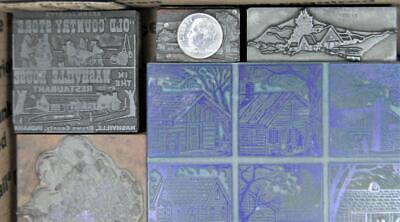 Vintage Metal Letterpress Print Type 48-324pt Variety Building Wood Cuts Mb93 3