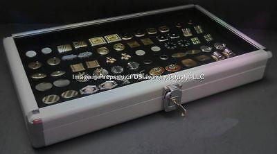 6 Wholesale Locking Aluminum Black Cufflinks Display Portable Storage Box Cases
