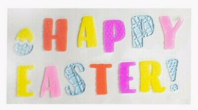 Happy Easter Pastel Spring Window Gel Sticker Cling Decorations classroom decor - Spring Classroom Decorations