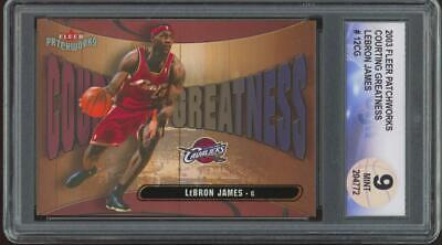2003 Fleer Patchworks Courting Greatness #12CG Lebron James  Mint DGA 9