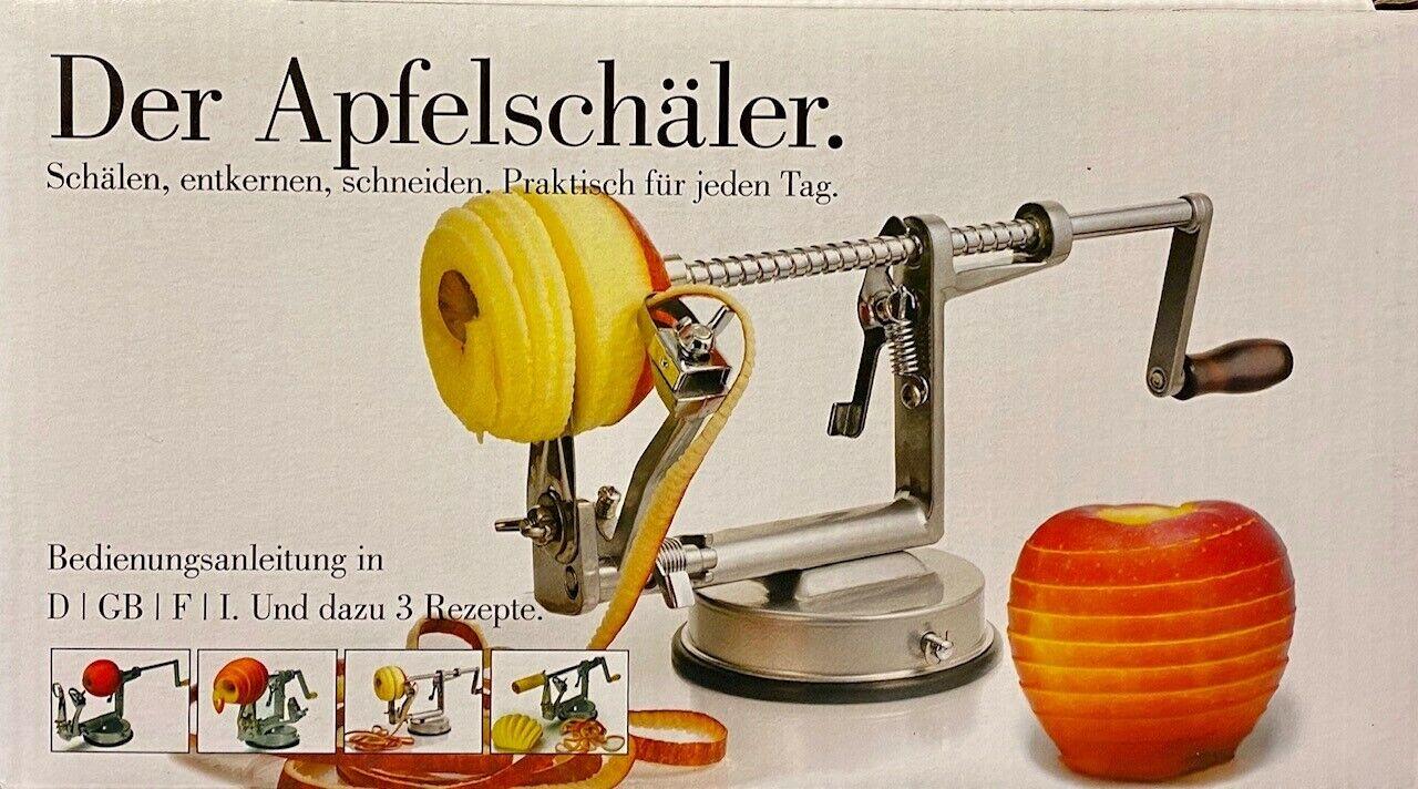 Apfelschäler Apfelschneider Apfelentkerner Apfelschälmaschine in OVP