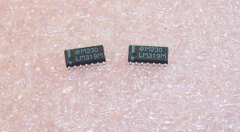 QTY (20)  LM319M NSC SOIC-14 SMD DUAL COMPARATOR NOS