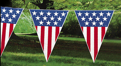 12ft PATRIOTIC Banner Pennant RED WHITE & BLUE 4th of July Party DECORATION](July 4th Decorations)