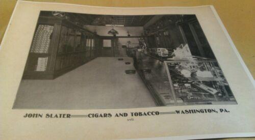 1904 Washington Pa. John Slater Cigars & Tobacco Rare Store Interior View Poster