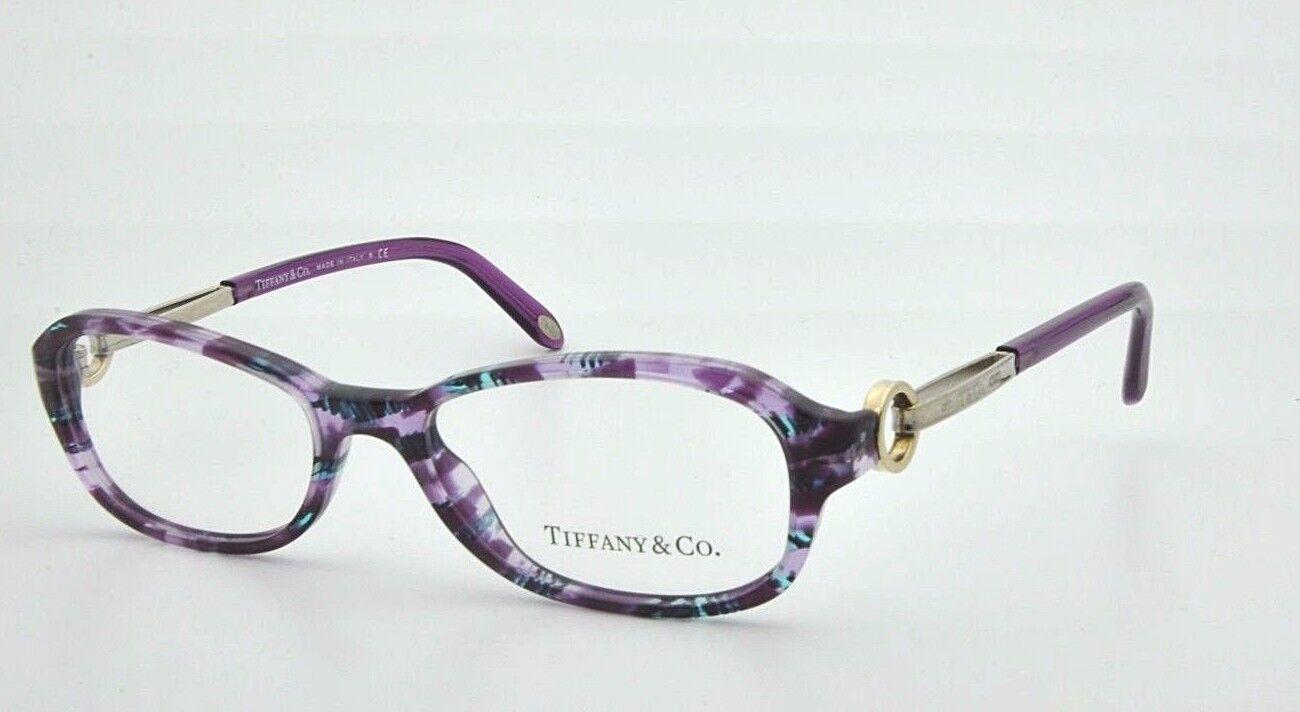 New Tiffany   Co. TF 2066 Eyeglasses Frame 8132 Plum Havana 52mm ... 4a28cd632dac