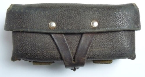 Original Leather Soviet Russian Military Genuine SKS 45 Carbine Ammo Pouch USSR
