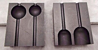 "5/8"" & 3/4"" Graphite Bead & Marble MOLD Mandrel Slots Glass Blowing Lampworking"