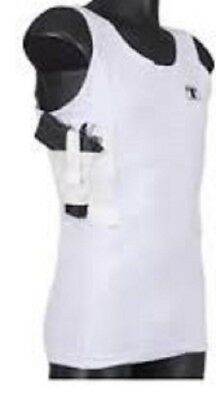 Tagua Tactical Woman White Spandex Holster Tank Top WOTAN-L-002