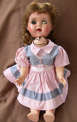 """Vintage Ideal Saucy Walker W16 Doll 16"""" Crier Works Repairs Parts"""