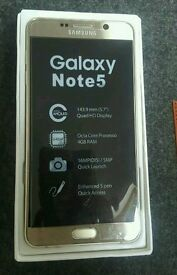 Samsung Note 5 32GB gold SM-N920V unlocked new unwanted gift