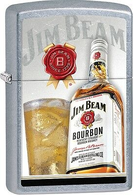 Zippo 2016 Catalog NEW Jim Beam Bourbon With Full Glass Street Chrome 29124