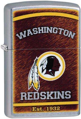 Zippo NFL Washington Redskins Street Chrome Windproof Lighter 29963 NEW RARE