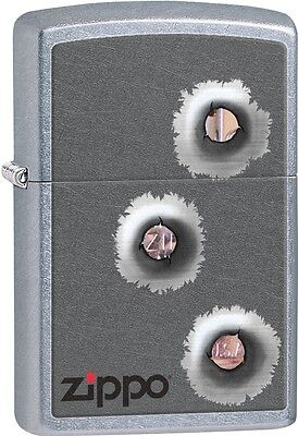 Zippo 3 Bullet Hole Would Your Lighter Take A Bullet For You? Lighter 28870 NEW