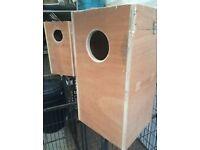 african grey nesting boxs