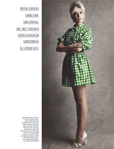 POPPY´s** MIU MIU ** by Prada RESORT 2012 SILK GINGHAM DRESS COAT (40)
