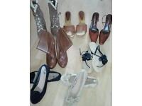 bundle of shoes, boots and sandals. Size 5