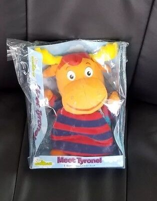 NICKELODEON The Backyardigans MEET TYRONE Plush Toy Moose HAND PUPPET CLOTH BOOK