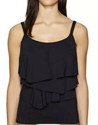 Coco Reef Black Tankini Top Swimsuit 32C 32 Bra Sized Underwire Tiered Clothing, Shoes & Accessories