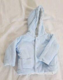 Boys 0 - 3 mths reversible M&S jacket