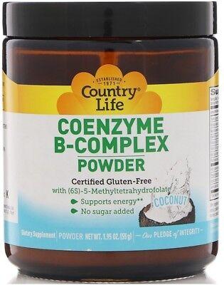 Coenzyme B-Complex Coconut Country Life 1.95 oz z  Powder