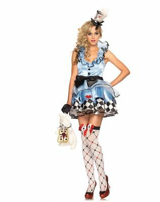 ALICE IN WONDERLAND SEXY HALLOWEEN COSPLAY COSTUME NEW WOMANS SZ LARGE - Alice In Wonderland Costume Spirit Halloween