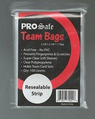 1,000 PRO SAFE RESEALABLE TEAM BAGS 10 pks of 100