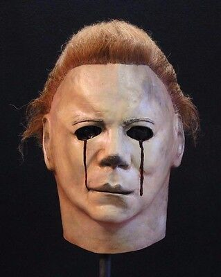 Michael Myers Halloween II Blood Tears Trick or Treat Studios Mask Licensed  - Michael Myers Halloween Mask
