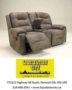 Double Reclining Loveseat with Console by Ashley - BRAND NEW