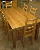 Solid wood Ikea dining set for sale