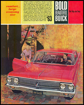 1963 vintage ad for Buick Automobiles