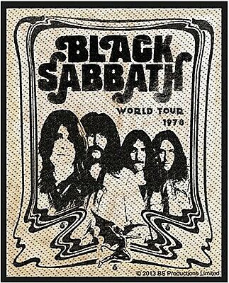 Black Sabbath World Tour 1978 sew-on cloth patch  (ro portrait)