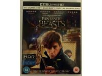 Fantastic Beasts and where to find them 4k blu ray